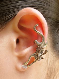 Ear Cuff Wrap Earrings Rhinestone Left Cuff Earrings ... Labyrinth Ear Band