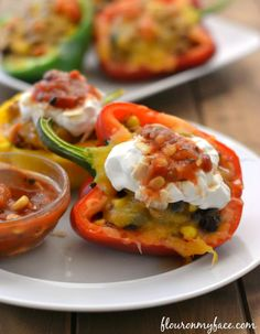 Southwestern Stuffed Peppers #ad #FreshfromFlorida