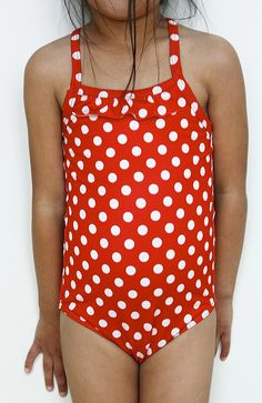 DIY Polka Dot Swimsuit