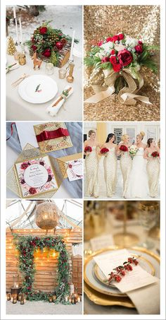 7 Pretty Winter Wedding Color Ideas with Christmas Festive Spirits luxurious red and glittery gold christmas wedding theme Silver Winter Wedding, Winter Wedding Colors, Christmas Wedding Themes, Gold Christmas, Christmas Wedding Invitations, Wedding Color Pallet, Wedding Color Schemes, Winter Wedding Receptions, Winter Weddings