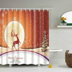 waterproof shiny pearl printed shower curtain bathroom decor
