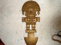 Brass Aztec Tool  Replica of ancient by SocialmarysTreasures, $10.00