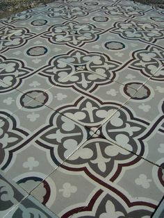 13m2 classical antique french ceramic floor with back to back borders early 20thc the antique floor company tiles flooring pinterest flooring - Antique Floor Tiles