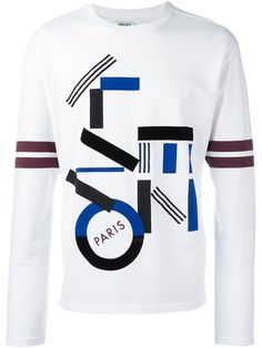 "Shop Kenzo geometric print sweatshirt in TNT from the world's best independent boutiques at <a href=""http://farfetch.com"" rel=""nofollow"" target=""_blank"">farfetch.com</a>. Shop 400 boutiques at one address."