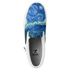 "ixDezines Van Gogh Starry Night/St. Remy Slip-On Sneakers Van Gogh Starry Night slip on shoes. Digitally enhanced by PixDezinesClick ""customize it"" button to edit images, rotate and add text / monogram. Have great fun in your own creation. This is what PixDezines is all about... give you some idea so you can run with it. com. All rights reserved. #abstract #artwork #girlstyle #girlaccessories #sneakersforher"