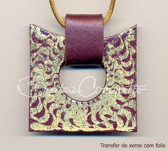 Transfer de xerox com foils sobre cerâmica plástica (Bozzi Super Polymer Clay) by Beatriz Cominatto, via Flickr