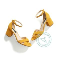 Heidi loves these!  Best way ever for me to wear mustard yellow. Have flats in this color would be nice to have a sandal too. Awesome with navy.