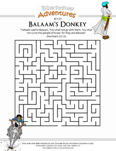 Bible Maze Puzzle: Balaam's Donkey | Free Download.