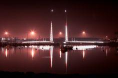 Twin Sails bridge in Poole, Dorset, UK.