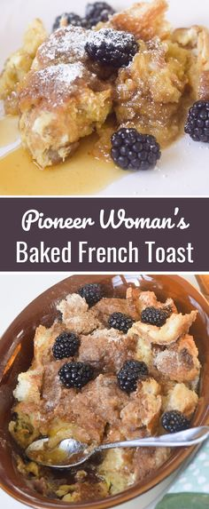 Brunch recipes pioneer woman baked french toast Ideas – Famous Last Words Blueberry French Toast Casserole, Baked French Toast Casserole, Banana French Toast, Best French Toast, Pumpkin French Toast, French Toast Bake, Breakfast Casserole, Brioche French Toast, Crockpot French Toast