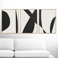 Super Amazing Value. A set of 3 Minimal black and white Abstract Prints. Instant download art JPEGs. A2 size.  These have subtle, off-white/light cream and black tones. The originals were hand painted by myself on fine art paper using acrylic ink.  These are downloadable prints. These prints would look great grouped together as a set or hanging individually.  These are a nice, large size. They would look great professionally framed behind glass.  Why not get them printed onto a quality…