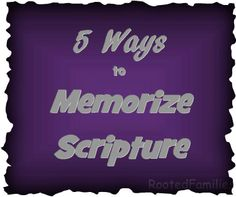 Great ideas for memorizing Scripture! via RootedFamilies.com