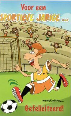 Voor een sportieve jarige... gefeliciteerd Happy Birthday, Family Guy, Kitty, Humor, Cards, Fictional Characters, Pictures, Manualidades, Paper Board