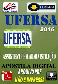 Apostila Digital Concurso Ufersa RN Assistente em Administracao 2016