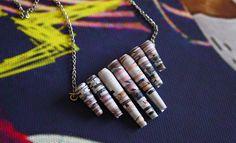 Un collier en perles en papier #DIY http://www.modesettravaux.fr/perles-en-papier-collier