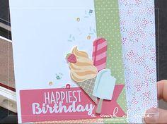 2017 Occasions Sneak Peek: Cool Treats Happiest Birthday Ice Cream Card