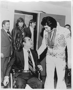 Elvis and George Wallace on the UA Campus in 1975 (W.S. Hoole Special Collections Library, The University of Alabama)  Happy Birthday, Elvis!