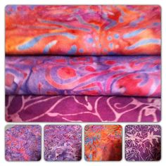 Feb 8 FlareFabrics TGIF giveaway. Repin for a chance to win a bright purple/red batik fat quarter bundle. Remember to tell us at facebook.com/flarefabrics