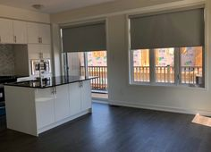 Blackout fabrics are great options for windows facing East/West Windows, New Homes, Blinds, House, Custom Window Blinds, Blackout Blinds, Window Coverings, Custom Windows, Blinds For Windows
