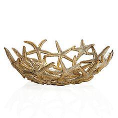 Coastal chic gold Starfish Bowl, $24.95 #ZGallerie