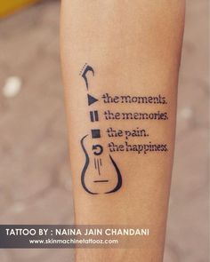 Tattoo for a music lover. Done by : Naina jain chandani Skin Machine Tattoo Stu… Tattoo for a music lover. Done by : Naina jain chandani Skin Machine Tattoo Studio Email for appointments: skinmachineteam www. M Tattoos, Body Art Tattoos, Hand Tattoos, Small Tattoos, Finger Tattoos, Tattoo Studio, Music Tattoo Designs, Tattoo Music, Guitar Tattoo