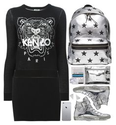 """Modern School Girl"" by hollowpoint-smile ❤ liked on Polyvore featuring mode, Rock 'N Rose, A.L.C., Kenzo, Converse, Yves Saint Laurent, modern, women's clothing, women's fashion et women"
