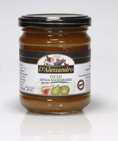 Confettura di fichi senza saccarosio  Confettura fichi senza saccarosio aggiunto 240 g.   Senza glutine (gluten free)   Ingredienti: Fichi, succo di mela.   FASCIA F