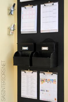Chalkboard Family Central Command Center for the heart of the home including a monthly calendar, kids charts, inspirational quotes, and more.
