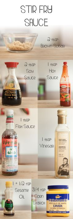 Stir Fry Sauce Recipe... Great with some added ginger and chili flake... Go light on the fish sauce