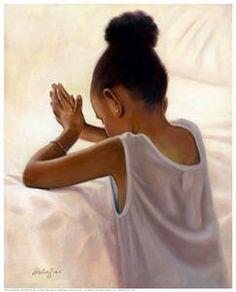 Black Art African American Bedtime Prayer by Sterling Brown African American Art, African Art, American Girl, Natural Hair Art, Natural Hair Styles, Sterling Brown, Bedtime Prayer, By Any Means Necessary, Black Artwork