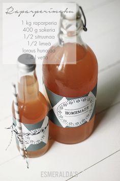DIY Labels - Rhubarb juice - Esmeralda's