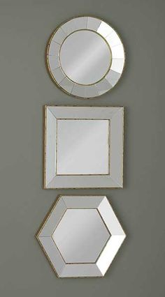 Shaped Mirrors fromTuesday Morning #TuesdayMorning #seektheunique #mirror #homedecor