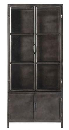 Industrial Shelving, Modern Industrial, Tall Cabinet Storage, Locker Storage, Wood Steel, Metal Furniture, Beautiful Interiors, Clean House, Great Rooms