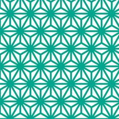 asanoha in emerald fabric by chantae on Spoonflower - custom fabric