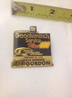 NASCAR GM Goodwrench Service Plus 400 Feb 22 Jeff Gordon Lapel  / Hat Pin 1998