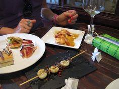 My kind of heaven. squid with rose pepper. Pintxos at Astelena, San Sebastian.