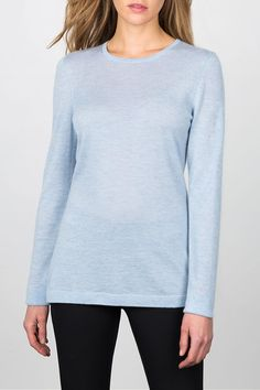 Pure, natural, soft and sophisticated, Kinross is known for everyday luxury. Their products are inspired by nature, modern in design and hand-crafted to endure.   Worsted Crewneck by Kinross Cashmere. Clothing - Sweaters - Crew & Scoop Neck District of Columbia