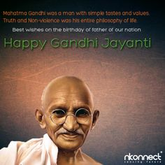 Happy Birthday To The Father Of The Nation  NKonnect Infoway Family Wishes You All Happy Gandhi Jayanti !   #HappyGandhiJayanti #MahatmaGandhi #GandhiJayanti