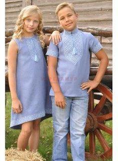 Вишиванка для хлопчика і стильна вишита сукня для дівчинки. Лариса Жигайло  · Український костюм a6afcb7599218