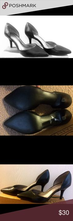 Tahari dress shoes Black Tahari dress shoes, size 6.5, worn once. Bought at Sacks- off 5th. Perfect condition. Box not available Tahari Shoes Heels