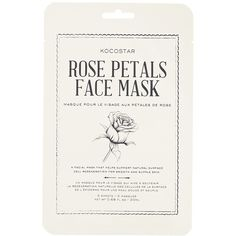 Forever21 Kocostar Rose Petals Face Mask (7.71 CAD) ❤ liked on Polyvore featuring beauty products, skincare, face care, face masks, fillers, beauty, makeup, rose and forever 21