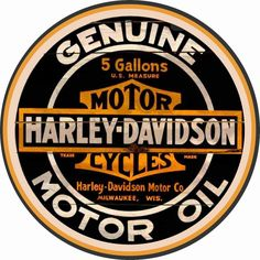 Harley Davidson Motor Oil Sign Round is a brand new embossed tin sign made to look vintage, old, antique, retro. Purchase your embossed tin sign from the Vintage Sign Shack and save. Harley Davidson Vintage, Harley Davidson Signs, Harley Davidson Sportster, Motor Harley Davidson Cycles, Harley Davidson Street Glide, Sportster 883, Metal Vintage, Vintage Signs, Tin Metal