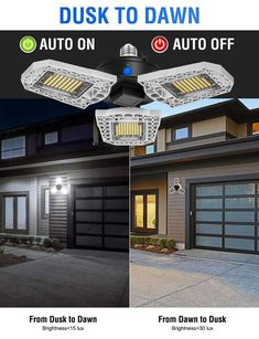 Three-Leaf Garage Light -【New Year Discount 】 – Ballstraining Outdoor Garage Lights, Garage Lighting, Garage Light Fixtures, Incandescent Light Bulb, Motion Detector, Dusk To Dawn, Led Panel, Light Covers, Led Ceiling Lights