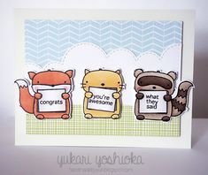 """""""Congrats, you're awesome"""" card by Handmade by Yuki 
