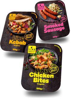 Smoked Chicken, Chicken Bites, Bratwurst, Meat Substitutes, Snack Recipes, Snacks, Organic Chicken, Food Packaging Design, Plant Protein