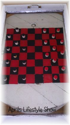 Aprils Cooking and Lifestyle Show: Painters Paint Markers Project *Checkers Board and Game Pieces*  #GlueNGlitter #CBias