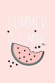 Odile Sacoche // iphone4 pink watermelon dekstop illustration