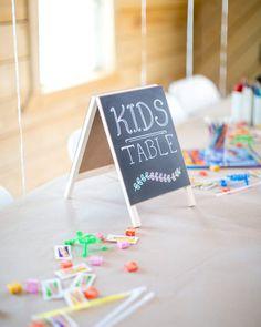Kids Table At Weding