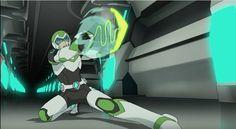 Pidge shooting green laser whip from Voltron Legendary Defender season 2