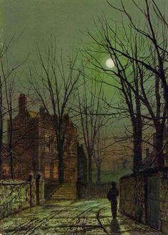 John Atkinson Grimshaw - Au Clair de Lune